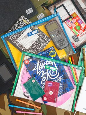 big clear zipper pouch file folder car important document durable folder for teacher student school