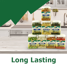 Long lasting, extended shelf life