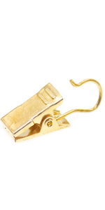 gold curtain clips