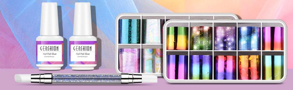 nail foil art kit