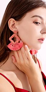 tassel earrings for women
