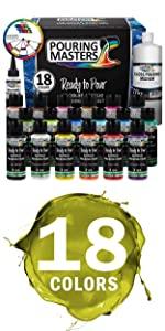 18 Color Ready to Pour Acrylic Pouring Paint Set