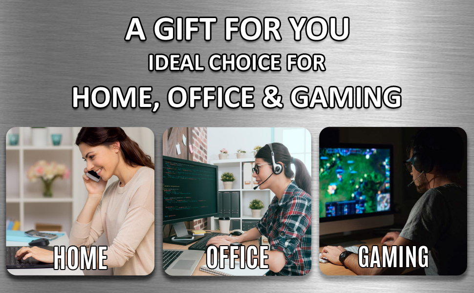 gift for friend colleague home office laptop computer gaming rectangle mouse mat