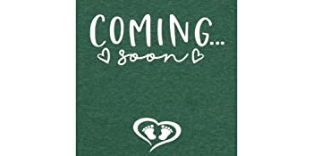 Coming Soon Pregnancy Announcement T Shirt for Women New Mom TEE Shirt
