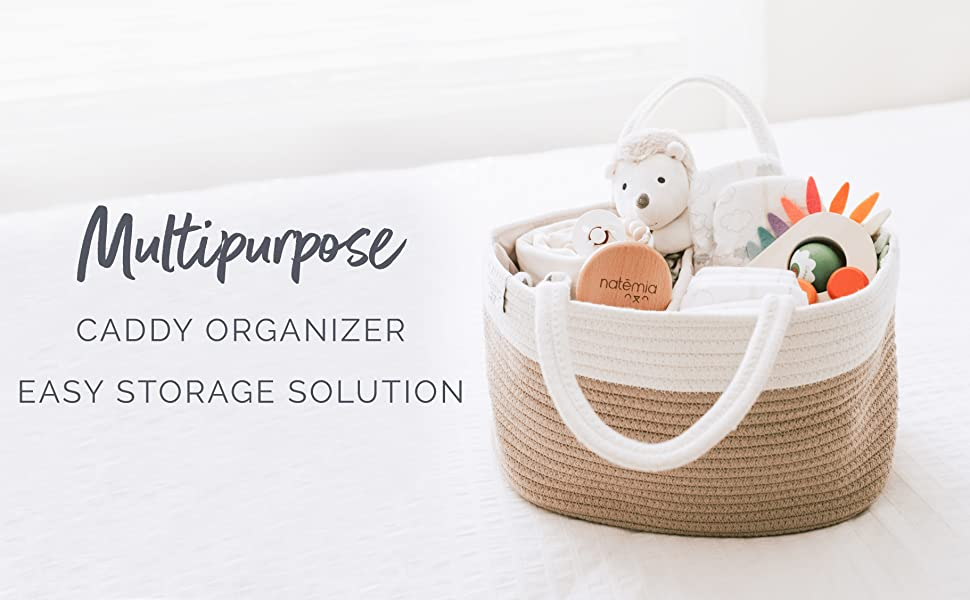 diaper caddy organizer storage bin bag nursery baby changing table basket