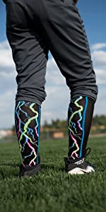 Electric Storm Softball Socks