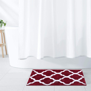 Bathroom Rug Microfiber Rug Set 2 Piece Non Slip Floor Mat Water Absorbent Shower Rug Shaggy