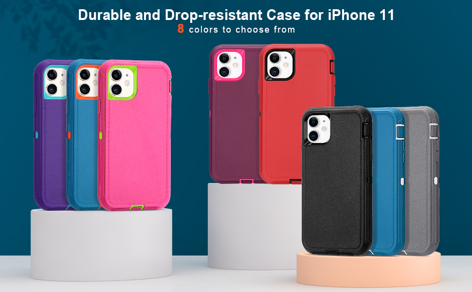 Durable and Drop-resistant Case for iPhone 11, Multiple colors to choose from