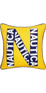 Nautica Kids Logo Decorative Pillow (Yellow Navy, Decorative Pillow)