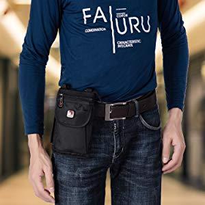 belt case nylon holster pouch for travel man mini shoudler bag waist pack phone holder belt carrier