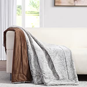 brown throw blanket couch sofa comfy cover