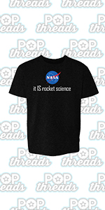 Pop Threads NASA Approved Space Program Logo Retro Graphic Toddler Kids Girl Boy T-Shirt
