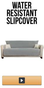 water-resistant slipcover