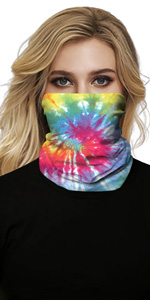 Face Bandanas Unisex Headband Sun Face Scarf Neck Gaiters for Dust, Outdoors, Festivals, Sports