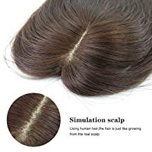 natural real scalp