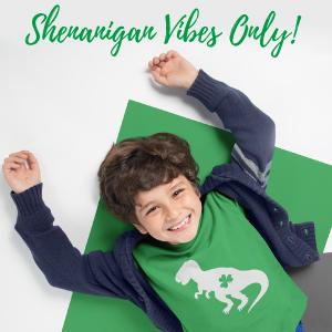 st Patrick green shirt lucky luck dinosaur toddler st patricks day shirt boy