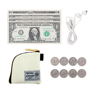 note organizer metro card stuudent ID card canvas pouch small