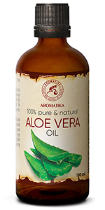 Aloe Vera Oil 3.4oz - Aloe Barbadensis - Brasil - 100% Pure & Best for Skin - Body - Hair