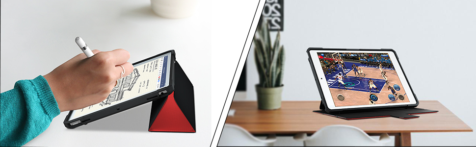 ipad 10.2 2019 case with trifold stand