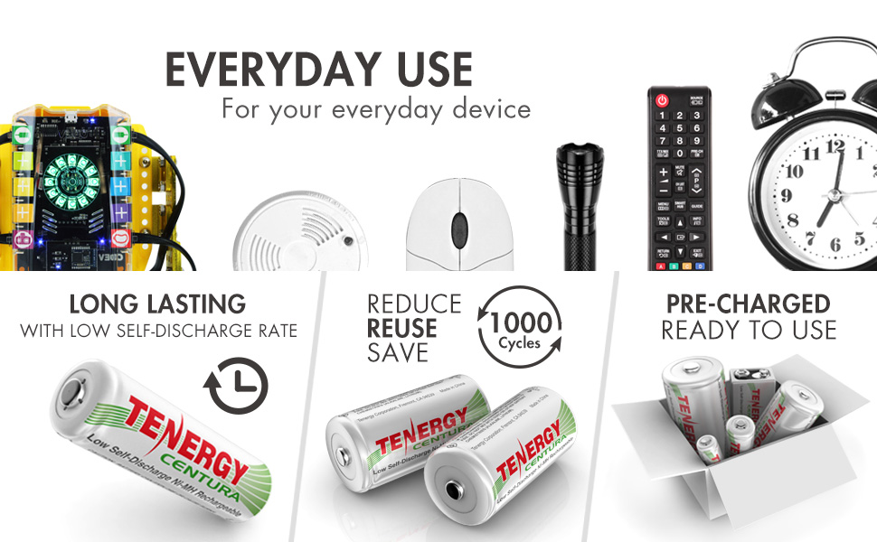 Low self discharge batteries, ideal for everyday electronics