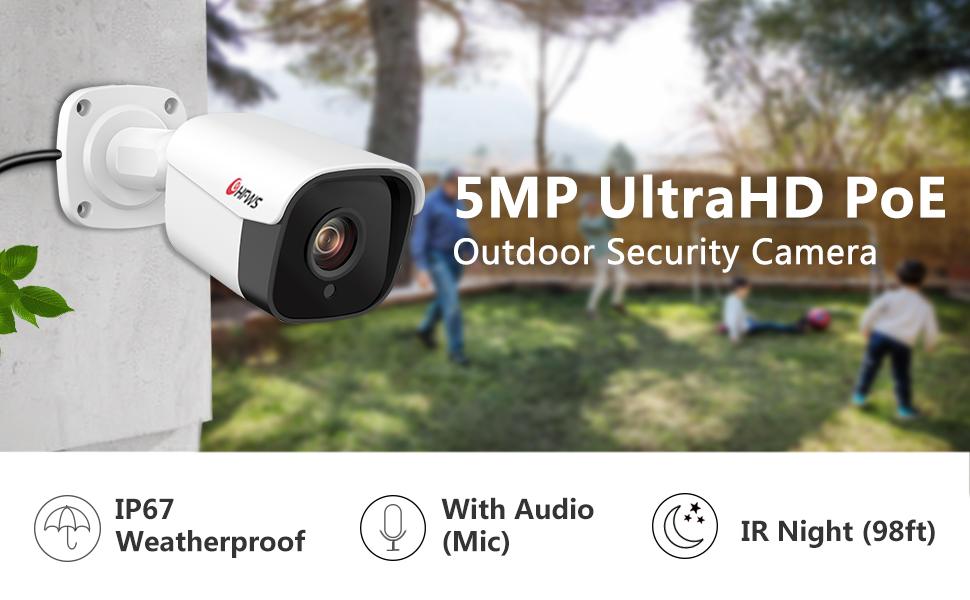 5MP Ultra HD POE IP Camera