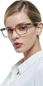 Vintage floral reading glasses women rectangle readers