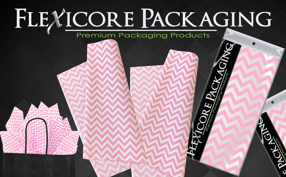 light pink zig zag chevron gift wrap tissue paper bulk acid free tassel flower pom poms garland