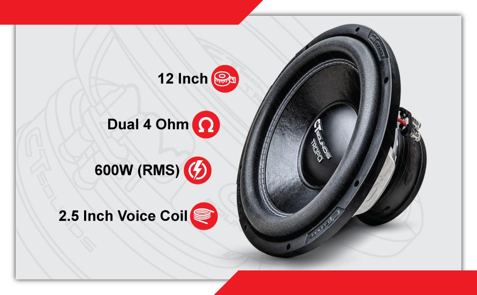 CT Sounds Tropo 10 Inch D4 Subwoofer Technical Features