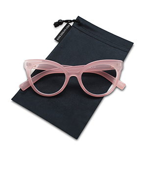 oversized cat eye reading glasses for women clear pink