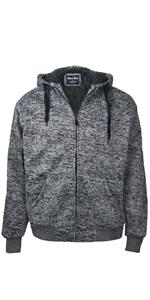 dark grey mens sherpa lined hoodie