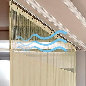 Breathable curtain
