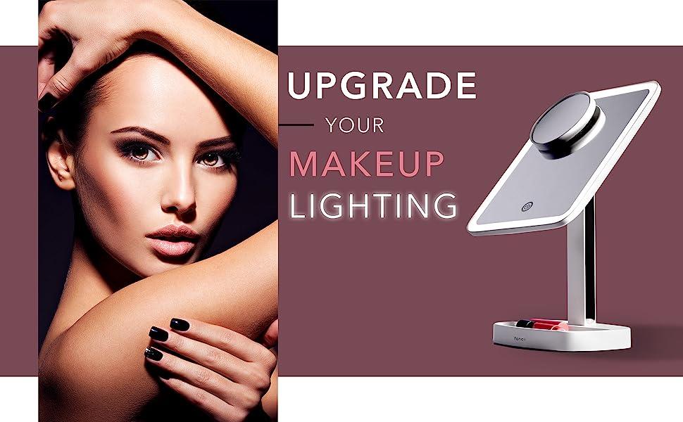 Fancii aura makeup mirror with led lights