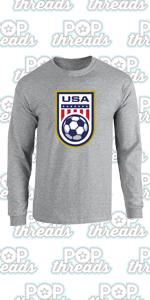 USA Soccer Crest Womens Team Men Rapinoe 2020 Full Long Sleeve Tee T-Shirt