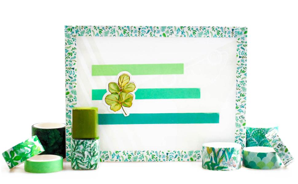 green washi tape