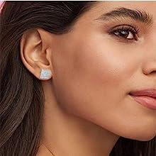 Shiny &Beautiful Square Stud Earring