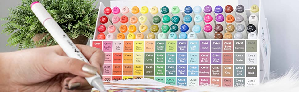 ColorIt 60 Art Markers for Creative Coloring