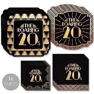 Roaring 20's 16 Tableware Bundle