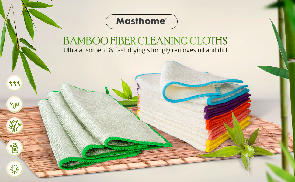 Bamboo fiber cleaning cloth