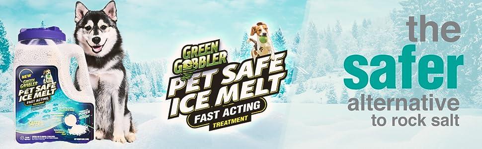 green gobbler pet safe ice melt magnesium chloride pellets non corrosive plant plants deicer calcium