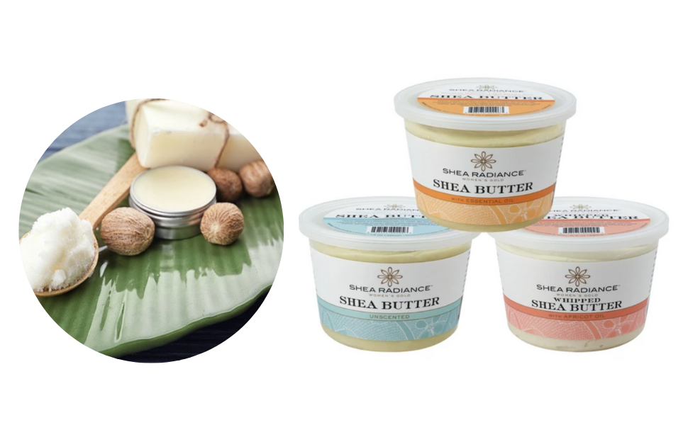 pure shea butter tub from africa