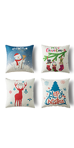 christmas throw pillows 4 pack 18 by 18 christmas pillow covers throw pillow covers 18 x 18 inches