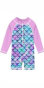 baby girl mermaid rash guard bathing suit