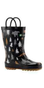 unisex kids rain boots