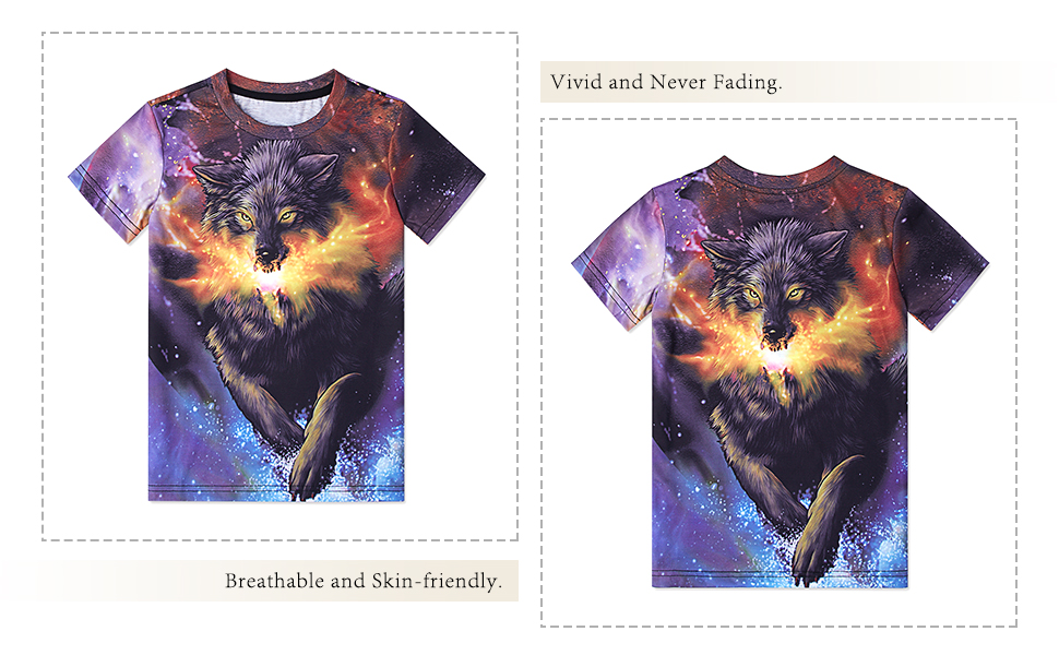 wolf t shirts for boys