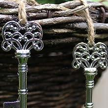 silver key bottle opener