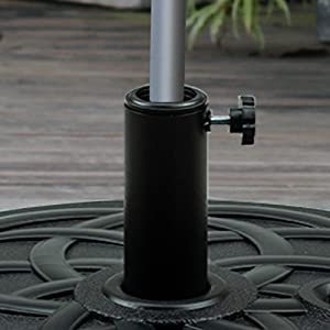 Orgrimmar 62lbs Heavy Duty Patio Umbrella Base Water-filled Umbrella Base Outdoor