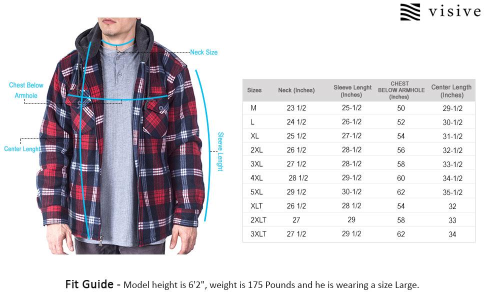 flannel jackets for men fleece lined quilted zip up sweater sweatshirt crewneck  shirt red 5xl