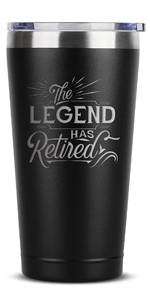 The Legend Has Retired - Retirement Gifts for Women Men Coworker Boss Supervisor Employee