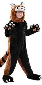 red panda, panda, costume, animal, zoo, bear