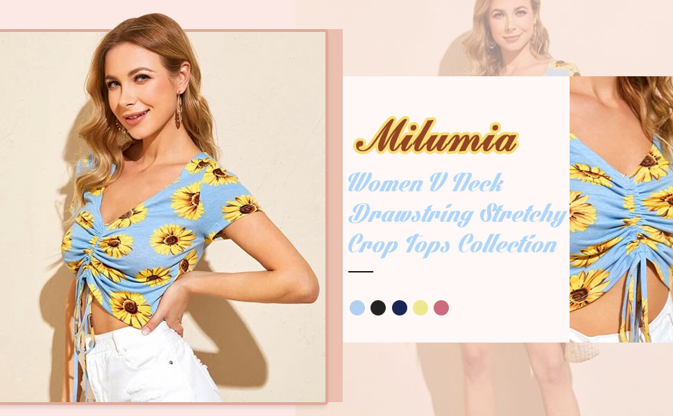 floral print cropped top for women
